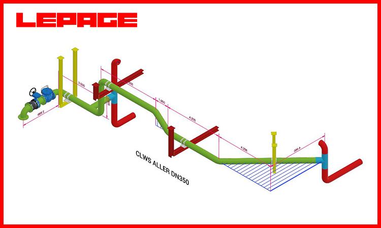 Design et réalisation piping DN350 eau glacée - PHARMA BE